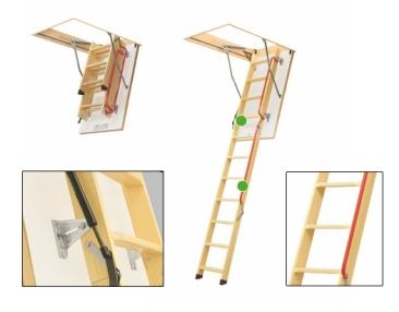 Fakro LWL Bodentreppe mit Holzleiter