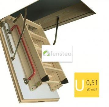 Fakro LWT Passivhaus Bodentreppe mit Holzleiter