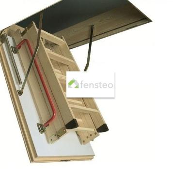 Fakro LWK Komfort Bodentreppe mit Holzleiter