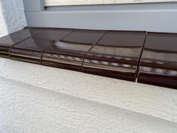 Fensterbank Klinker - dunkelbraun (glasiert)