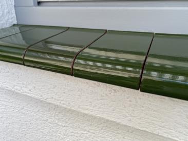 Fensterbank Klinker - grün (glasiert)