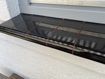 Fensterbank Klinker - schwarz (glasiert)