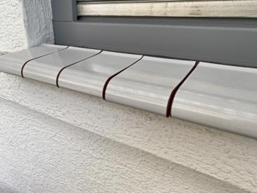 Fensterbank Klinker - weiß (glasiert)