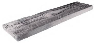 BDO - Holznachbildung Beton - Brett 98 cm - Grau