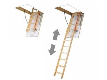 speichertreppe holz dachbodentreppe mit leiter aus holz. Black Bedroom Furniture Sets. Home Design Ideas