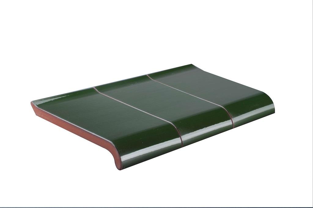 Frisch Fensterbank Klinker - grün (glasiert) UK56