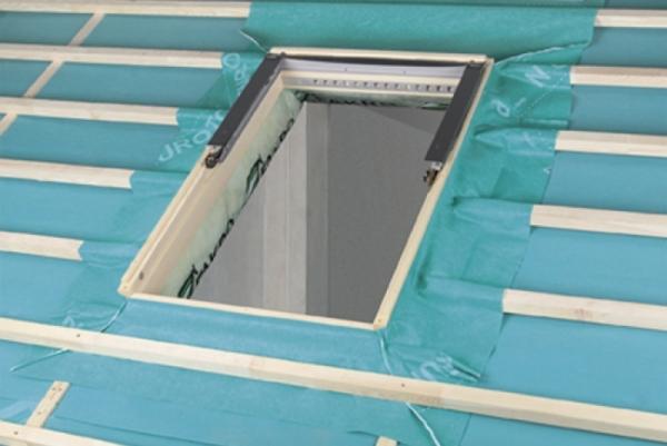 dachfenster dampfsperre folienanschluss mit naturwolle xdp. Black Bedroom Furniture Sets. Home Design Ideas
